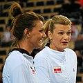 Katarzyna Skowrońska-Dolata & Małgorzata Glinka-Mogentale - FIVB World Championship European Qualification Women Łódź January 2014.jpg