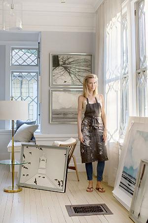 Kate Cordsen - Cordsen in Essex, CT studio, 2015