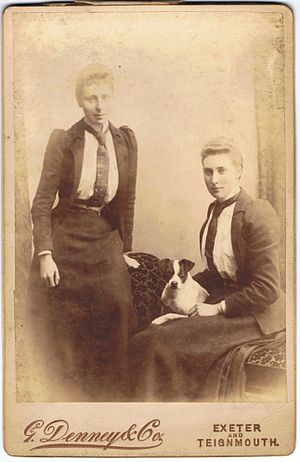 Sowton - Sisters Kathleen and Sybil Garratt, of Bishops Court.