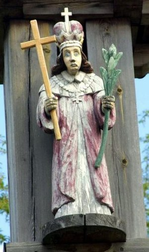 Saint Casimir - Lithuanian folk sculpture of Saint Casimir