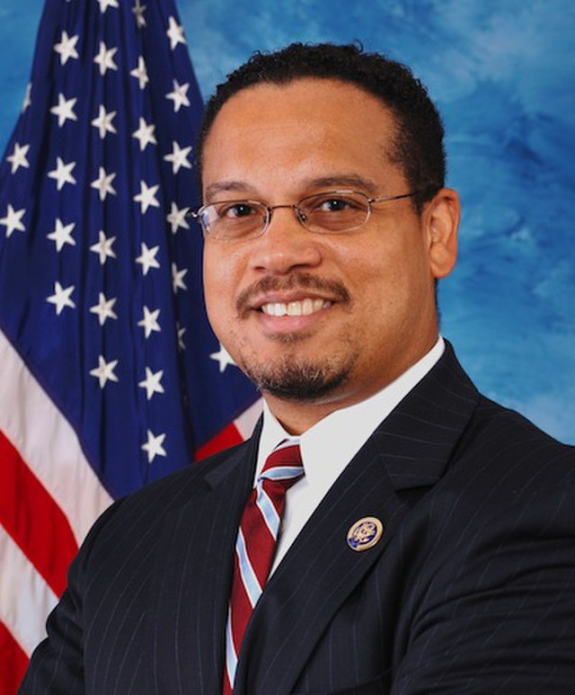 From commons.wikimedia.org: Keith Ellison official portrait, From Images