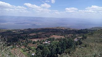 Elgeyo-Marakwet County - Escarpment panorama viewed from Iten View Point