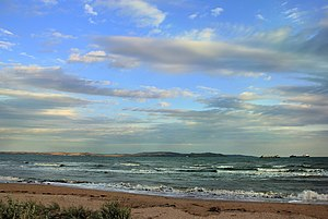 Kerch Strait - Kerch Strait. View of the port in  Crimea