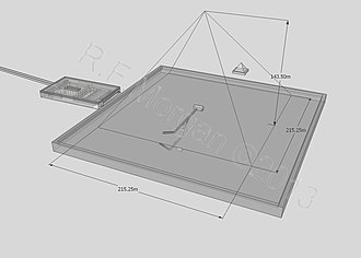 Pyramid of Khafre - Isometric drawing of the pyramid of Khafre taken from a 3d model