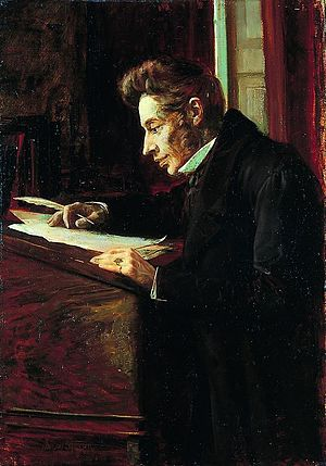 Influence and reception of Søren Kierkegaard - 1902 oil painting of Kierkegaard, by Luplau Janssen.