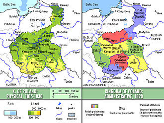 Congress Poland - Kingdom of Poland, 1815-1830.