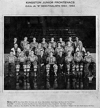 Kingston Frontenacs - Kingston Junior Frontenacs OHA Jr Semi-Finalists 1963-64