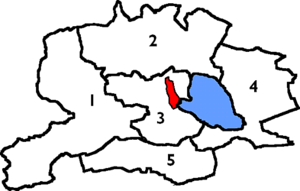 Kinross-shire - The civil parishes of Kinross-shire from 1891. The burgh of Kinross is shown in red, Loch Leven in blue.