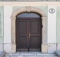 Klagenfurt St-Veiter Ring 55 Wodley-Stoeckl Korbbogenportal 14082016 3702.jpg