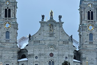 Bollinger Sandstein - Detail view of the facade of the Einsiedeln Abbey