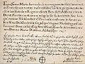 Kloster Wald Professurkunde Maria Bernarda von Werner 1750.jpg