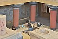 Knossos in Crete restauration work.jpg