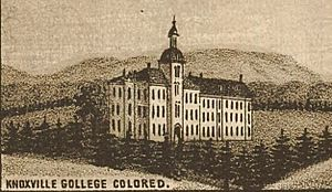 Knoxville College - Knoxville College, as it appeared on an 1886 map of Knoxville