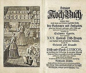 Susanna Eger - Leipziger Kochbuch, 1745 edition