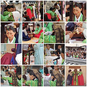 Marriage in South Korea - Korean traditional wedding ceremony