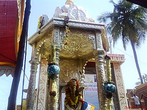 Shri Guru Kottureshwara Temple - Silver ratha at the entrance of Darbar Mutt