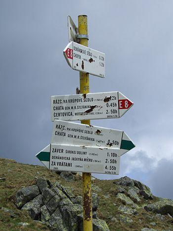 English: Krúpova hoľa, Low Tatras. Information...