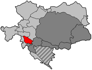 Duchy of Carniola - Duchy of Carniola within Austria-Hungary