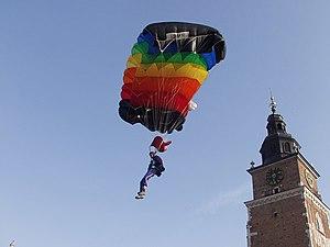 English: Krakow - jump on the Main Square Pols...