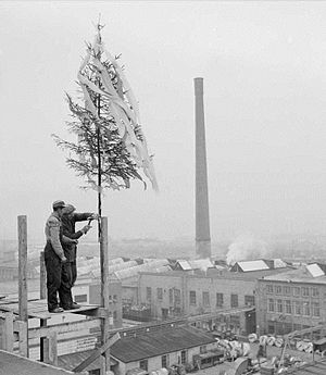Topping out - Image: Kranselag 1959