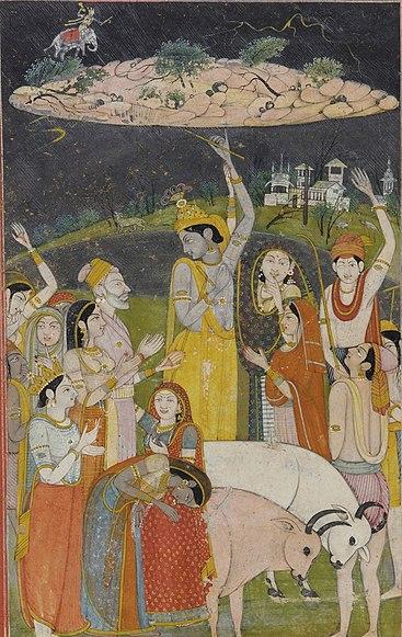 File:Krishna Holding Mount Govardhan - Crop.jpg