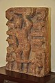 Krishna Lifting Govardhan Mound - Circa 7th Century CE - Gatashram Narayan Temple - ACCN 00-D-47 - Government Museum - Mathura 2013-02-23 5328.JPG