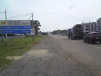 Malaysian Federal Roads System - Image: Kuantan highway