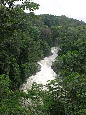 Kwa Falls, along the Kwa River in Cross River ...