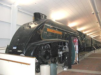 """National Railroad Museum - LNER/British Railways A4 No. 60008 """"Dwight D. Eisenhower"""" on display at the National Railroad Museum on April 26, 2004"""
