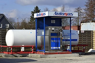 Autogas - Unmanned LPG-only station in Germany, payment per girocard