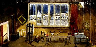 La bohème - Stage design for act 1 of La bohème, Reginald Gray, 2010