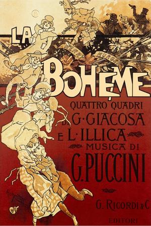 La bohème - Original 1896 poster by Adolfo Hohenstein