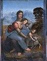 La Vierge, l'Enfant Jésus et sainte Anne, by Leonardo da Vinci, from C2RMF FXD.jpg