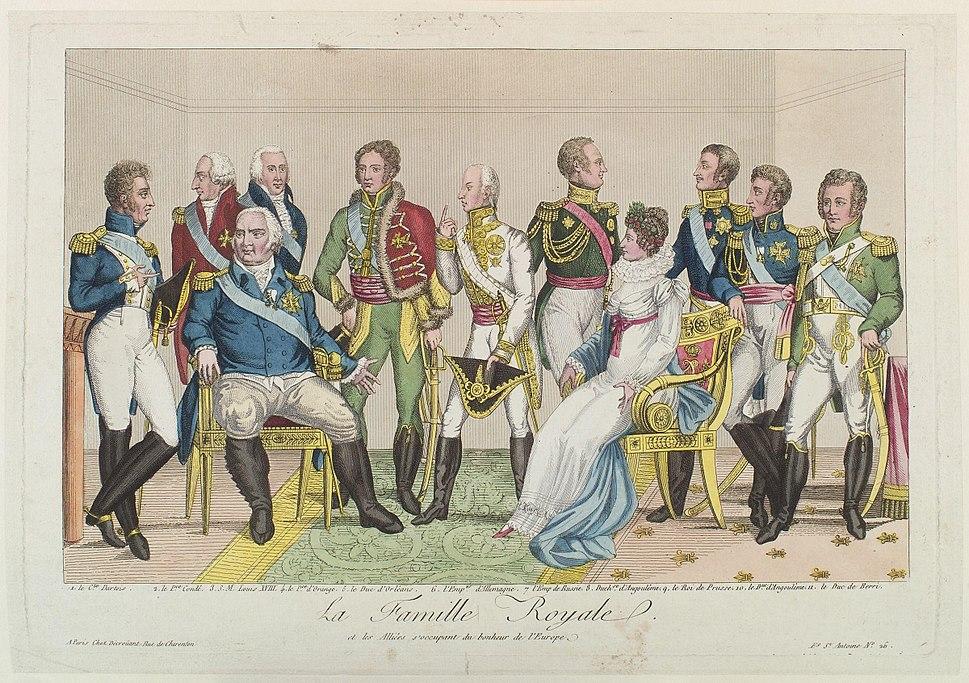 La famille royale et les alliées s'occupant du bonheur de l'Europe from NPG
