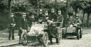 Garde Civique - Motorised personnel of the Garde, 1904