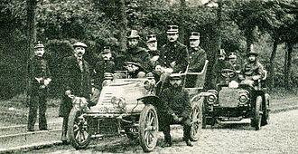 Garde Civique - Motorised personnel of the Garde, 1904