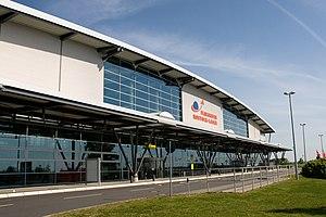 Rostock–Laage Airport - Image: Laage Flughafen Eingang
