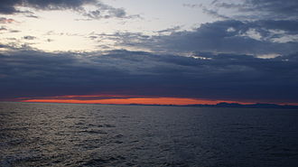 Labrador Sea - Past sunset at Labrador Sea, off the coast of Paamiut, Greenland, in July 2009.