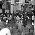 Land Girls and British soldiers at a dance in a large hall, near the Women's Land Army forestry training camp at Culford, Suffolk, May 1943. D14123.jpg