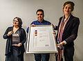 Land der Ideen Certification @ Wikidata third Birthday Party at Wikimedia Deutschland e.V..jpg