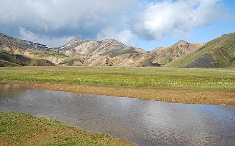 Landscape around Landmannalaugar region in summer 2009, Iceland