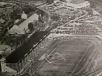 TD Place Stadium - An aerial view of the stadium in the 1950s
