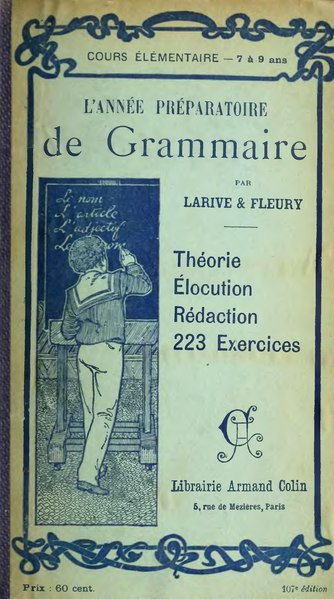 File:Larive Fleury Grammaire 1910 tome 1.djvu