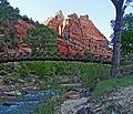 Last Rays over Emerald Pools Bridge, Zion 2014 (16416504638).jpg