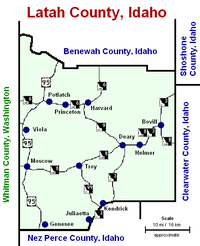 Latah county (ID) roads