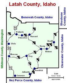 Kendrick Idaho Map.Kendrick Idaho Wikipedia