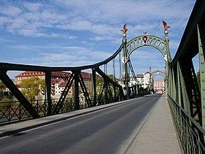 Laufen, Germany - Bridge from Oberndorf to Laufen