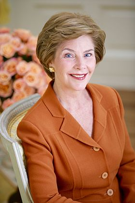Portrait de Laura Bush.