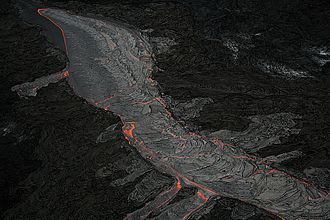 Fissure vent - Lava channel on Hawaii