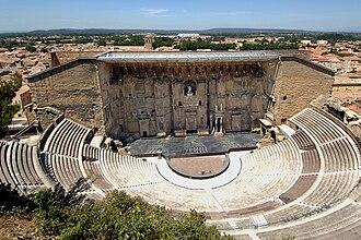 Roman Theatre of Orange - Image: Le Théâtre Antique d'Orange, 2007